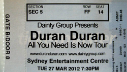 Ticket 2012 review concert sydney australia duran duran wikipedia.png