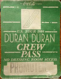 Us tour 1984 duran duran wikipedia pass.JPG