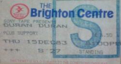 Ticket Brighton UK Brighton Centre wikipedia duran duran paper gods album.jpg