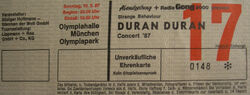 Ticket stub Olympiahalle Munich Germany wikipedia duran duran com twitter.jpg