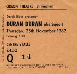 Birmingham UK Odeon wikipedia ticket stub duran duran com.jpg