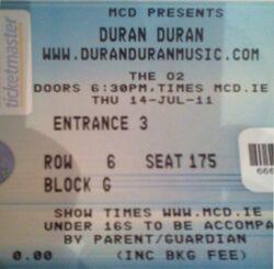 Dublin ireland ticket o2 duran duran duran.jpg