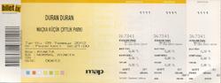 Küçük Çiftlik Park, Istanbul (Turkey) wikipedia duran duran concert ticket stub.png