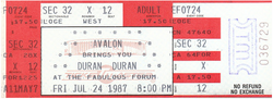 Ticket event Great Western Forum, Inglewood, Los Angeles, CA (USA) - 24 July 1987 duran duran rolling stones.png