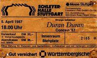 Ticket duran duran stuttgart april 1987-04-05 ticket.jpg
