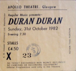 Ticket apollo theatre glasgow duran duran 1982 discogs wiki.png