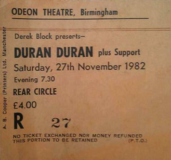 Odeon, Birmingham wikipedia theatre ticket duran duran city of culture 2013.png