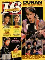 16 Teen Magazine December 1984 Duran Macchio Springfield Menudo Michael Jackson 16 december 1984 wikipedia.jpg