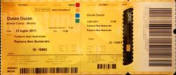 Concert ticket Milan (Italy), Arena Civica duran duran italia.png