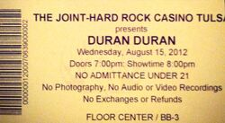 The joint hard rock casino tucson wikipedia duran duran ticket stub.jpg