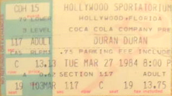 Ticket duran duran hollywood march 27 84.png