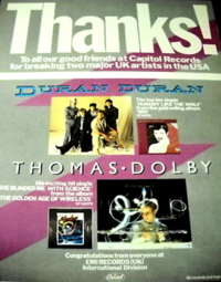Poster duran billboard 1983 magazine advert thanks.png