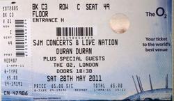 Ticket london o2 arena duran duran 2011 wiki com discogs.png