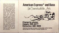 Ticket duran duran band Olympic Saddledome in Calgary canada. Dated Monday, January 30, 1984 back.png