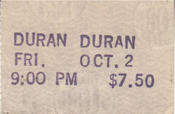 The Roxy, Hollywood, CA (USA) - 2 October 1981 wikipedia duran duran ticket 1.png