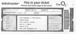 Ticket o2 arena concert review duran duran 2011.png