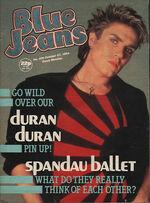 Blue Jeans Magazine 27 October 1984 No. 406 Simon Le Bon Duran Duran Spandau wikipedia.JPG