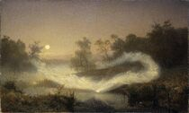 A misty appearance of elves dancing, as depicted by August Malmström (1829 - 1901)
