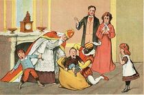 A depiction of Zwarte Piet and Sinterklaas from 1906.