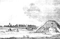 Excavation of the Sommeltjesberg as depicted by Pieter van Cuyck (1720 - 1787)