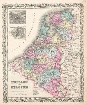 1855 Colton Map of Holland and Belgium - Geographicus - HollandBelgium-colton-1855.jpg