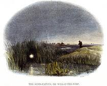 A Dwaallichtje as depicted by Josiah Whymper (1813 - 1903)