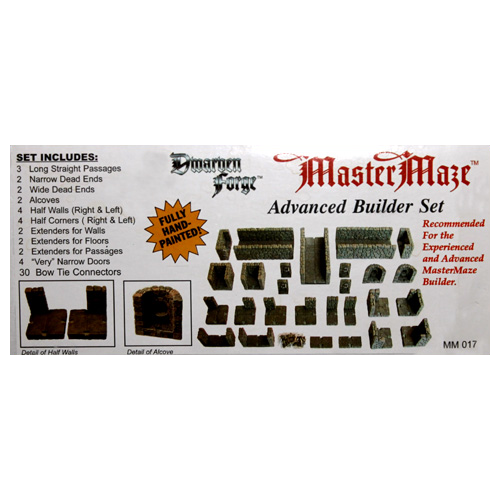 Dwarven Forge Master Maze Painted Resin Narrow to Wide Passageway