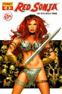 Red Sonja 0 Cover White