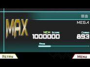【Dynamix-更新测试】罪曲 - Lv12 (MEGA) - 1000000 Score - Rank MAX (Ω-OMEGA)