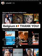 Dynasty is No. 2 on Netflix in Belgium