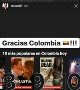 Dynasty is No. 8 on Netflix in Colombia
