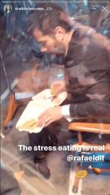Rafael S4 eating BTS 01