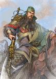 Guan Yu Watercolor Artwork (ROTK13PUK DLC)