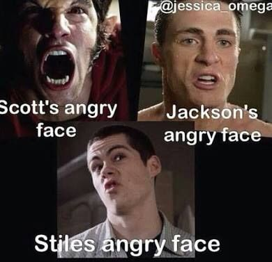 Stiles angry face