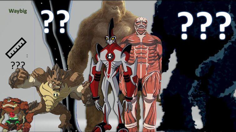 Ultimate Ben 10 Size Comparison ft. Godzilla, Colossal Titan, Antman