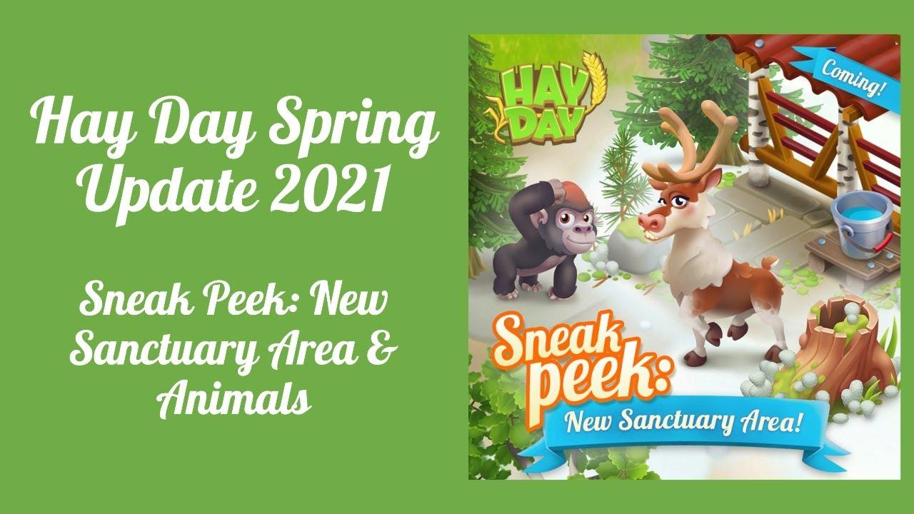 Hay Day Spring 2021 Update - Sneak Peek #1: New Sanctuary Area & Animals