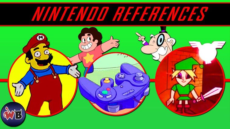 21 Nintendo References in Cartoons 🎮