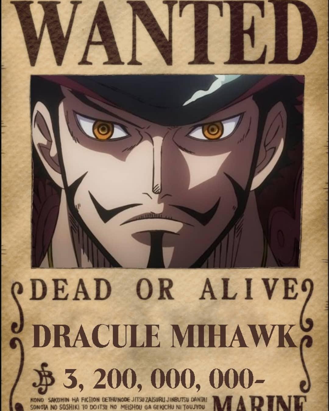 Secondo voi sarà questa la Taglia di Mihawk?