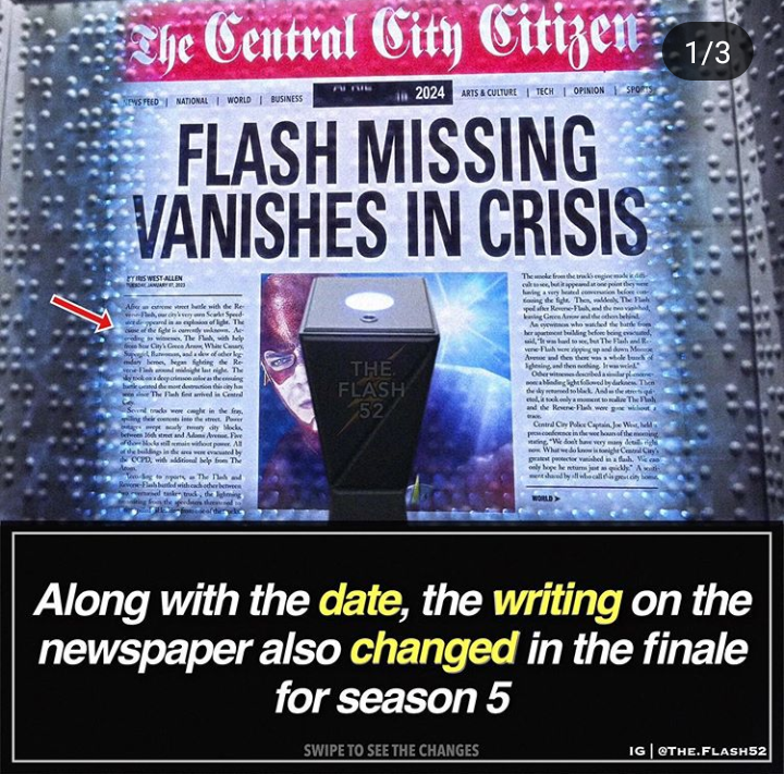 Flash vanishes
