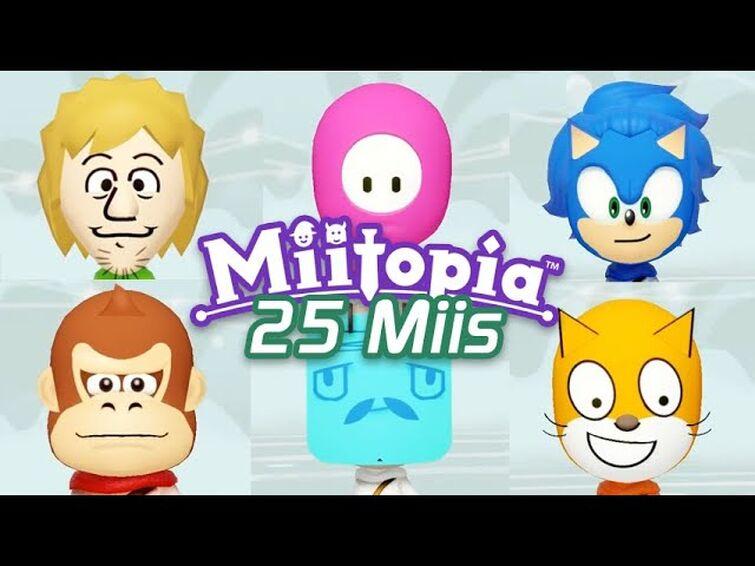 25 Miis for you to use in Miitopia!