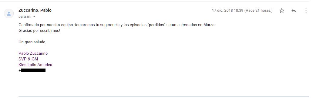 Sobre los episodios no emitidos en América Latina