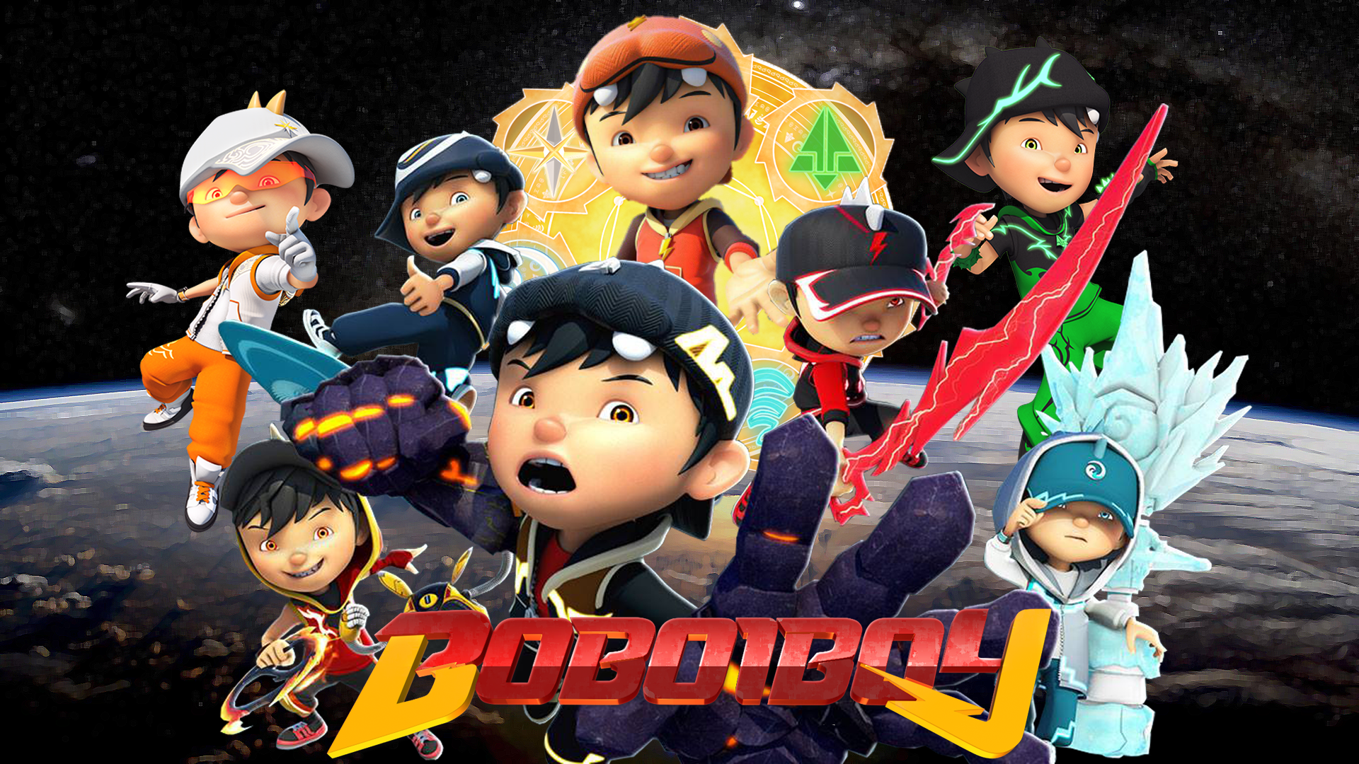 Wallpaper Boboiboy Galaxy Hd