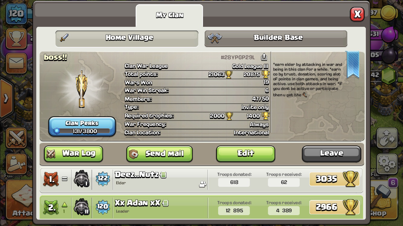 Looking for active th 11's or 12's with strong troops for donating and for future clan war leagues