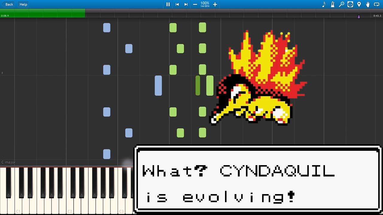 Evolution - Pokémon GSC (Piano Sheet Music/MIDI) (Synthesia)