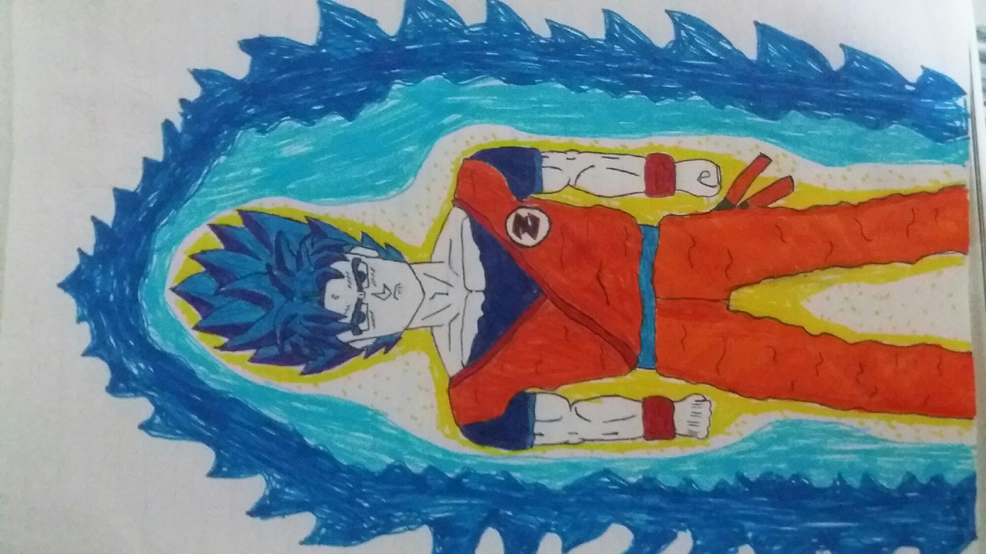 Goku super saiyajin blue full power