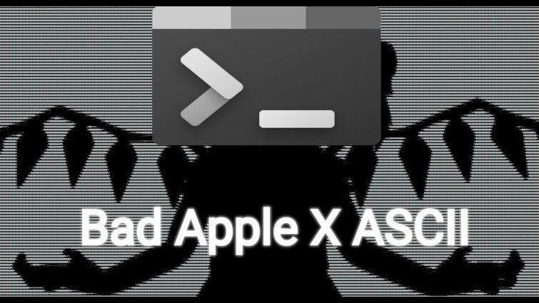 Bad Apple But ASCII
