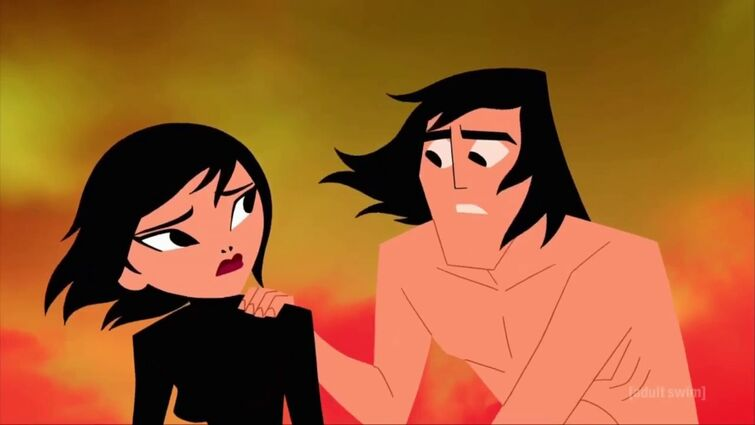 """""""Samurai Jack"""" - Wedding of Jack and Ashi. Death of Ashi and the final scene [5x10: THE FINAL]."""