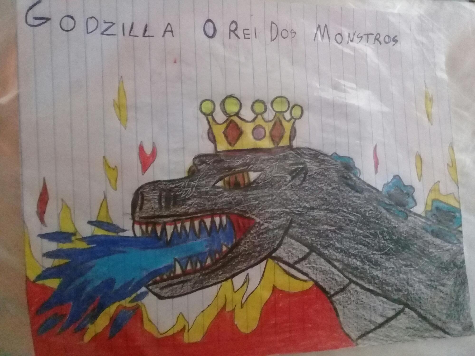 Um Dos Meus Desenhos De Godzilla