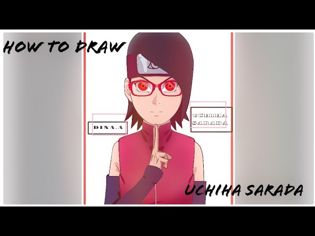 How to draw uchiha sarada (speed dawing)