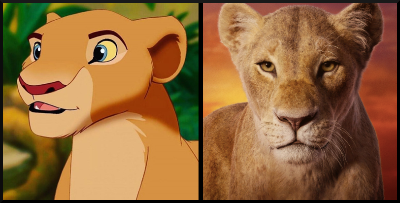 Nala from The Lion King- Then vs. Now, which character's appearance do you prefer?